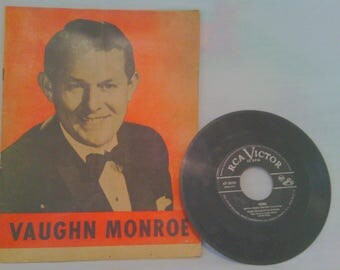 Vintage 1945 Vaughn Monroe Souviner Booklet And 45 RPM Record
