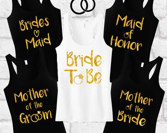 Bride To Be Tank Top, Bride Shirt, Bachelorette Shirts, Bridal Party, Bridesmaid Shirts, Bride Tank Top, Bride Gift