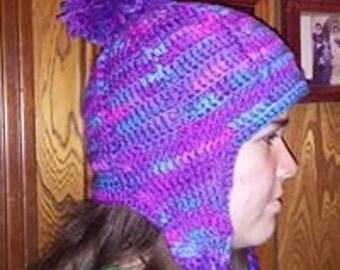 Comfy Ear Flap Crocheted Hat