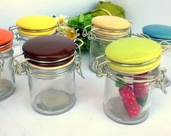 Lot 32 PCs Small glass jars for packaging favors or spices