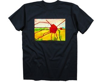 T-shirt Poppy, limited edition designer fashion collection, black tee, men, women, unisex, 100% cotton