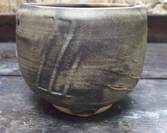 Bowl chawan green metallic