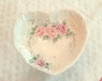 Vintage China Heart-Shaped Jewelry Holder