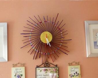 Spiral flower clock