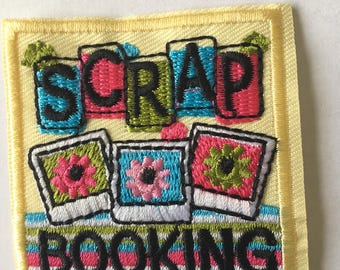 Scrap Booking Embroidered Patch  Iron Or Sew