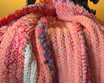Peachy Keen Baby Girl Blanket