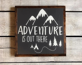 Adventure Is Out There, Wood Sign, Wall Decor