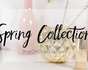 New Etsy Shop Banner, New Etsy Cover Photo, Instagram, Facebook Cover, Styled Desk Mockup, Timeline Photo, Flower Images, Images of Flowers