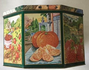 Crabtree & Evelyn London 1985 Tin approx. 9inx9inx6in
