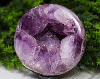 AMAZING! Amethyst Geode Sphere Uruguay