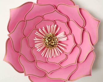 PDF Paper Flower template, Digital Version, Now Including The Base - UPDATED -