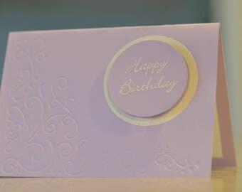 Handmade Birthday card purple