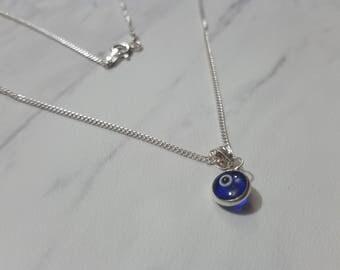 Blue Evil Eye Jewelry. Blue Evil Eye Necklace. Nazar Boncuk pendant. Evil eye pendant. Protection necklace. Protection jewelry.