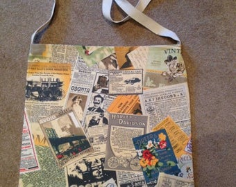 Calicp tote bag with Vintage style print