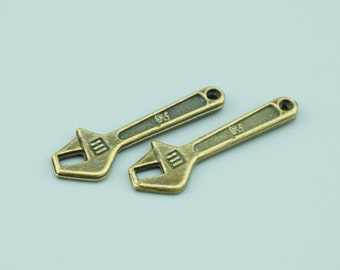 40pcs 39x13mm Antique Bronze Wrench Charm Pendants,Tool Charm Pendants ZM29569