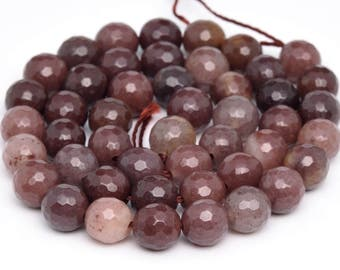 "10MM Faceted Brown Aventurine Natural Gemstone Full Strand Round Loose Beads 16"" (100888-340)"