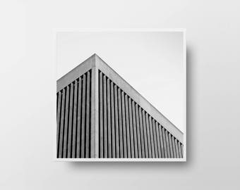 architectural print geometric print square print diy wall decor black and white print architecture art minimalist wall art square wall art