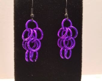 Purple Shaggy Loops Earrings