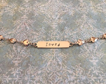 Bracelet-hand stamped-personalized