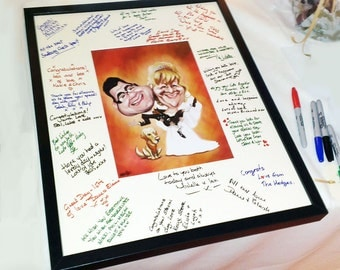 Wedding Guest Signing Board and Frame