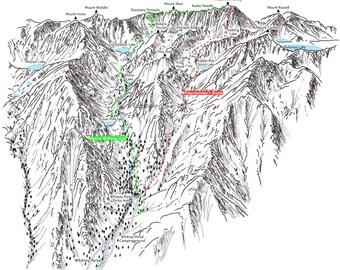 Mount Whitney 3d Map Illustration