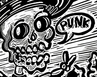 Mexican Punk recorded in Lino - printing.