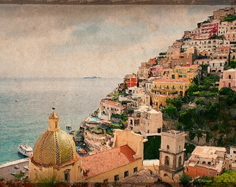 Positano Photograph Painting