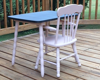 Vintage Childrens Table And Chairs Etsy