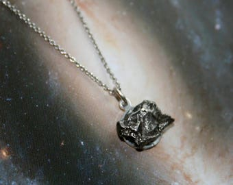 Campo del Cielo Meteorite Necklace on Sterling Silver Chain