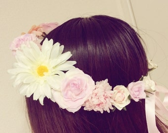 Flower crown like Tangeld*with lilac and pink pretty flowers