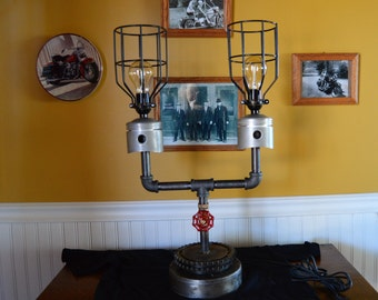 Harley Parts Lamp Steam Punk Style