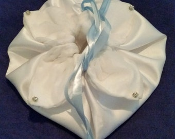 Handmade petal drawstring purse - made to order