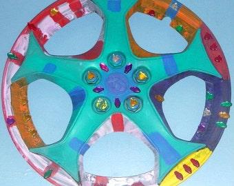 True Blue Hubcap Mandala
