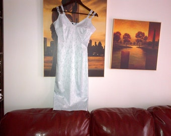D&G light blue brocade dress elastic UK size 10-12 unlined IT44