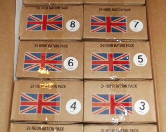 New 2016 -british orp military 24hr combat ration / mre -menu 1-20 individual