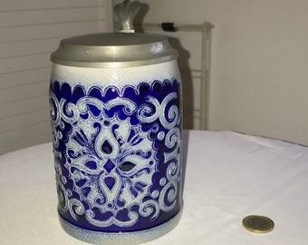 German stoneware beer mug