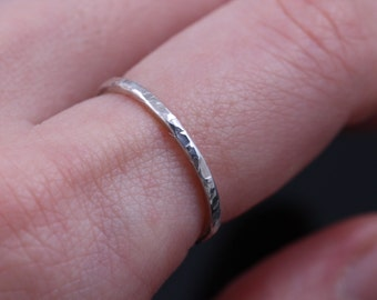 Stacking rings, stacking ring, stackable rings, thin stacking rings, thin hammered ring, thin stacking, hammered silver rings, wedding rings