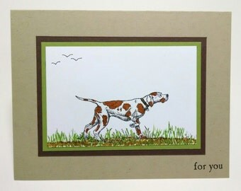 Stampin Up Handmade Father's Day, Birthday Card, Masculine Men's Card, Dog