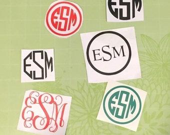 Matte Monogram Stickers