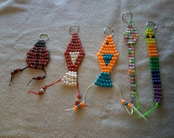 Beaded Animal Key Chains