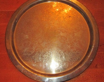 Extra Large  Silverplate Tray, Guildcraft F.B Rogers