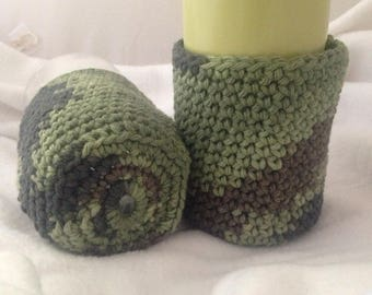 Set of 2 drink cozies, glass cozies, can cozies, water bottle cozies