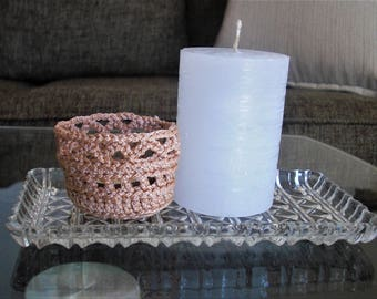 candle holder lace candle holder crochet candle cover table centerpiece