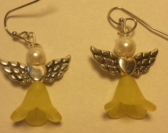 Yellow Fairy Earrings