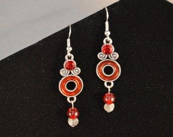 Red Elegance Earrings