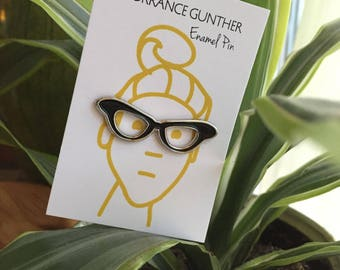 Glasses Enamel Pin