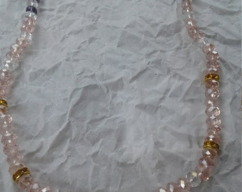 """Crystal 17"""" Necklace Pink/Purple #2"""