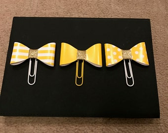 Yellow Bow Embellishments (Set of 3)