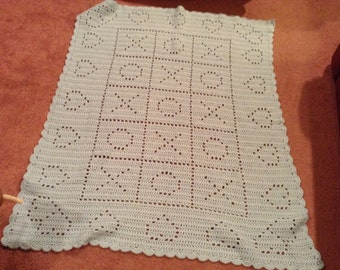 Hugs and Kisses Baby Afghan