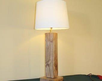 Stunning Elm Wood Table Lamp